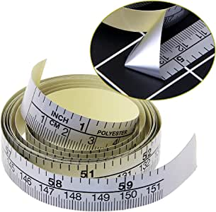 qiman 151/cm selbstklebende metrische Metro a nastro adesivo in vinile sovrano per macchina da cucire