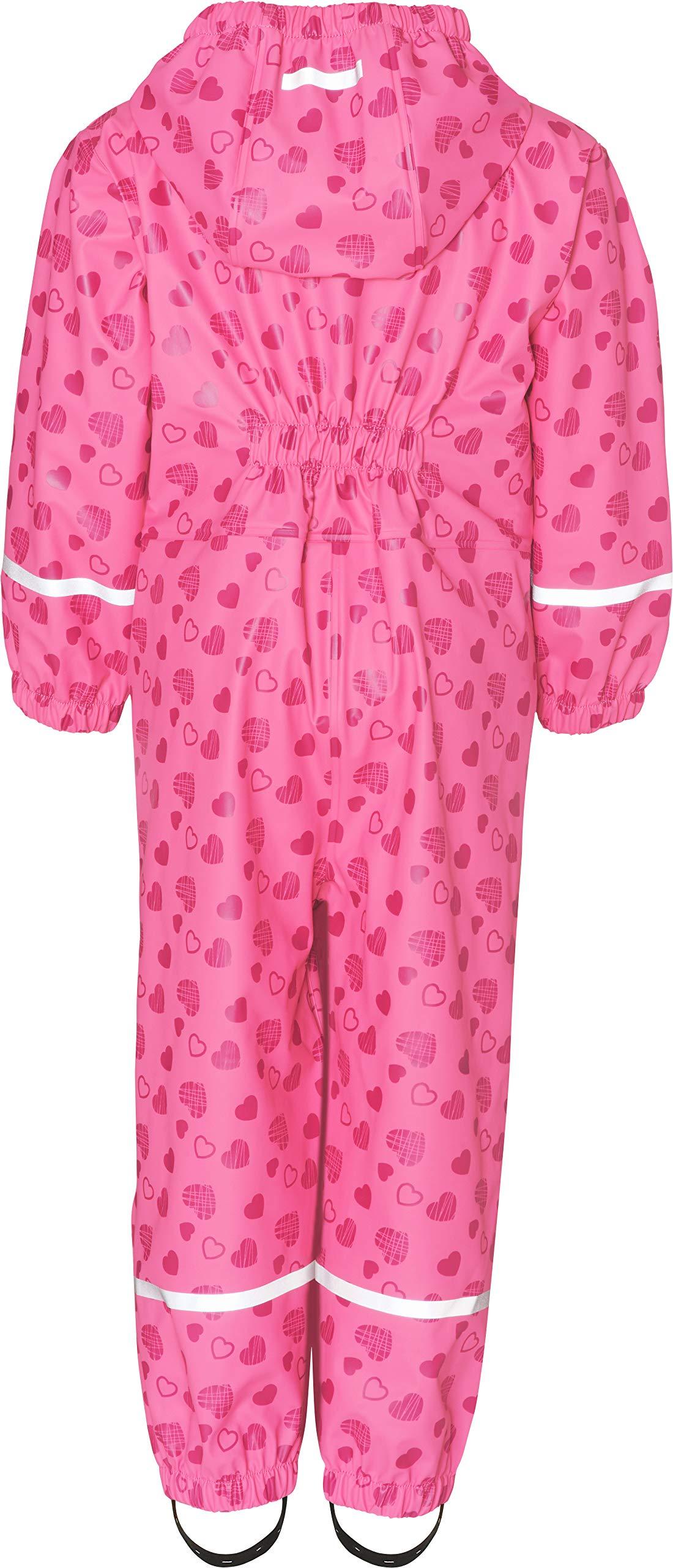 Playshoes Regen-Overall Herzchen Allover Pantalones Impermeable para Bebés 2