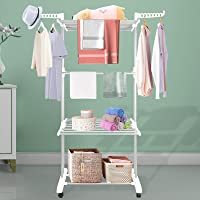 Innotic Clothes Drying Rack Foldable Clothes Airer Stainless Steel Portable Clothes Rail Laundry Dryer Hanger Rack with…