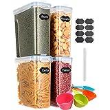 Aitsite Boîte de Rangement Cuisine Lot de 4 (4L), Boîtes à Céréales sans BPA, Boîte de Conservation Alimentaire Hermétique en