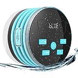 EXTSUD Enceinte Bluetooth Étanche IPX7 Radios de Douche 5W Mini Haut-Parleur Portable avec FM Radio pour Douche Camping Voiture Voyage,Bleu