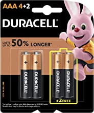 Duracell 32050 Type AAA Alkaline Batteries, pieces of 6, 4 + 2 - (Pack of1)