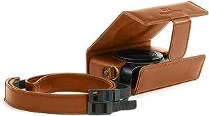 Megagear Ever Ready Leder Kameratasche Mit Trageriemen Kompatibel Mit Canon Powershot Sx620 Hs