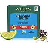 VAHDAM, Earl Grey Masala Chai Tea Bag | 30 bolsitas de té Pyramid (juego de 2) | Especias 100% naturales | Té negro con aceit