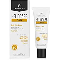Heliocare 360 Oil-Free Gel SPF 50 50ml / Gel Sunscreen For Face/Daily UVA UVB Visible light Infrared-A Anti-Ageing Sun Protection/Combination Oily and Normal Skin/Matte Finish