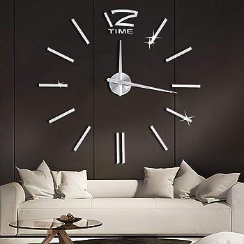 Soledi Wanduhr Design Diy 3d Aufkleber Spiegel Wandtattoo Ideale
