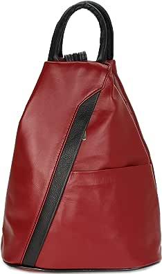 """Belli """"City Backpack leichte italienische Leder Damentasche Rucksack Handtasche - 29x32x11 cm (B x H x T)"""