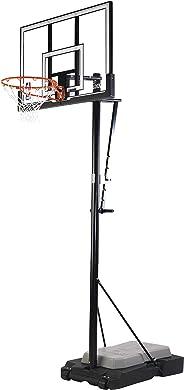 Spalding Unisex Child Ultimate Hybrid Jr Basketball System - Silver/Black