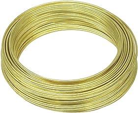 voolex Pure 18 Gauge Brass Rold Gold immitation Jewellery Wire, 1mm (Golden, BS1MM10)