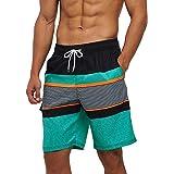 Arcweg Mens Swimming Shorts Knee Length with Pockets Swimming Trunks Mens Long Adjustable Drawstring Elastic Waist Board Shor