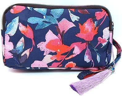 Beizhou Company Portafoglio casual da donna stampato con cinturino da polso e zip | frizione | borsa da polso | portamonete | borsa per cellulare