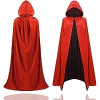 TK Gruppe Timo Klingler Halloween Vampir Kostüm Umhang - rot & schwarz - Kaputzenumhang für Kinder & Erwachsene - Damen…