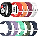SenMore 【10-delig】 Bandjes compatibel met Huawei Watch Fit Armband Vervanging Polsband Sport Siliconen Band Geschikt voor Hua