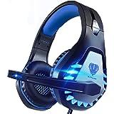 Pacrate Auriculares Gaming para Xbox One PS4 PC Nintendo Switch Mac, Auriculares con Microfono con Sonido Envolvente y Cancel