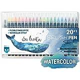 SKULLPAPER Watercolor Brush Pen Set - Pinselstifte weich und flexibel - langlebige Aquarellstifte