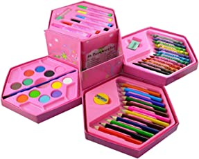 MANAN GIFT GALLERY Color Pencil, Crayons, Water Color, Sketch Pens - Set of 46 Pieces for Boys and Girls