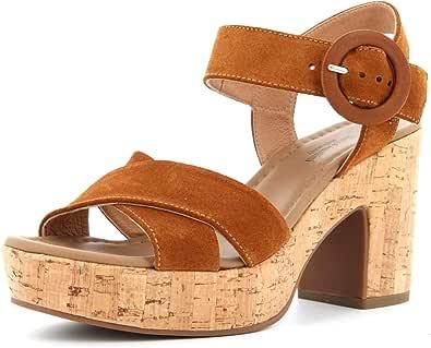 Sandalo da Donna NeroGiardini in Pelle Black o Tabacco E012420D. Scarpa dal Design Raffinato. Collezione Primavera Estate 2020