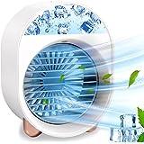 Climatiseur Portable, Mini Refroidisseur D'air Portable, 3 En 1 Climatisation, Humidificateur et Purificateur avec 7 Couleurs