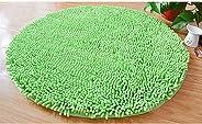 Round Non Slip Floor Mat, Thick Chenille Door Mat Solid Color Soft Comfortable Bath Mat Super Absorbent Carpet