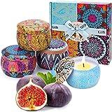 Set di Candele per aromaterapia, Set di Candele profumate per Donna con Regalo per la Mano Confezione Regalo di Alta qualità
