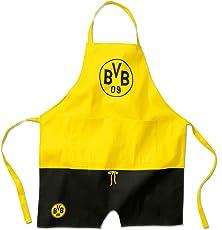Borussia Dortmund BVB Kochschürze, Baumwolle, Schwarz/gelb, 40 x 25 x 1 cm, 1 Einheiten