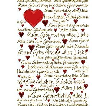 Gluckwunschkarte Geburtstagskarte Geburtstag Mit Roten Herzen