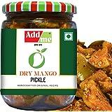 Add Me Homemade Dry Mango Pickle Less Oil 500gm Aam ka Sukha Achar 500 gm Glass Pack