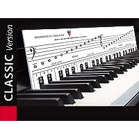 """KLAVIERSPIELEN lernen mit Freude und Spass - """"Klaviatur mit Herz"""" Tastenschablone/Klavierschule: Musiknoten…"""