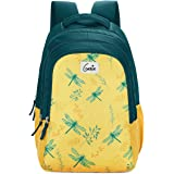 Genie Dragonfly 48.3 cms Yellow School Backpack (19 inch, Water resistant)