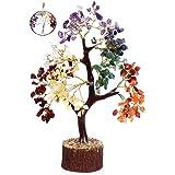 KACHVI Árbol de Cristal Árbol de Cristal de Siete Chakras para decoración de Oficina en casa. Bonsai Money Tree para Piedras
