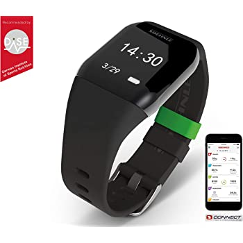SOEHNLE Fit Connect 300 HR Monitor de Actividad con Bluetooth, Negro
