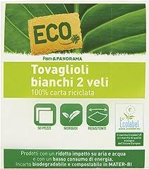 Eco P&P Tovaglioli Bianchi, 2 Veli 32.5 x 33cm, 50 Pezzi