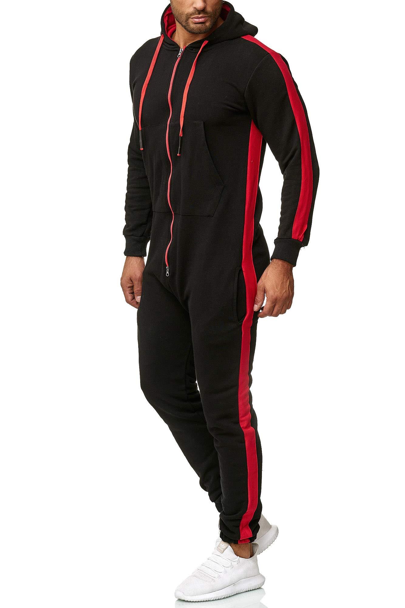 OneRedox Herren Trainingsanzug Unisex Jogger Jumpsuit Jogging Anzug Overall Einteiler Modell 1257