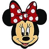 Minnie Mouse Disney cómico niños – rojo – 6,5x7,5cm - Parches termoadhesivos bordados aplique para ropa, tamaño: 6,5 x 7,5 cm