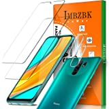 IMBZBK [4 Pack] 2 Pack Protector Pantalla para Xiaomi Redmi 9 Cristal Templado + 2 Pack Protector de Lente de Cámara Xiaomi R
