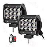 Andride 12 LED Fog Light/Work Light Bar Spot Beam Off Road Driving Lamp 36W Cree -Universal Fitting Good Fit on All Bikes and