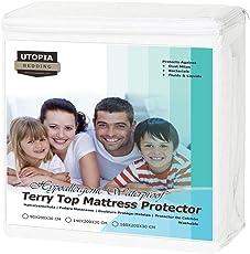 Utopia Bedding Hypoallergener wasserdichter Premium-Matratzenschoner - Vinylfrei - Passgenauer Matratzenschoner
