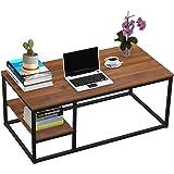 Table Basse avec étagère, Table Basse Moderne, Table de Salon avec Fonction de Rangement, Table rectangulaire 102 × 50 × 40 c