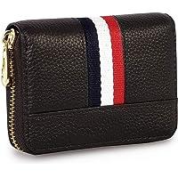 Storite 12 Slot PU Leather Credit/Debit Zipper Card Holder Wallet for Men & Women - (Brown, 10.75 x 8 x 2.5 cm)