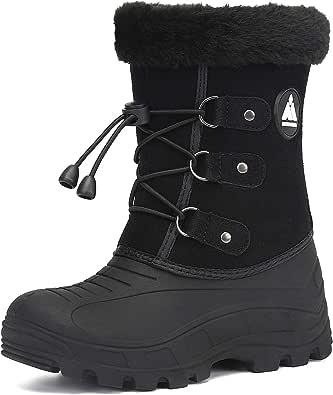 Bambini Stivali Ragazza Inverno Stivali da Neve Scarpe Calde Pelliccia Boots Impermeabili Bambino Outdoor Scarponcini Imbottiti