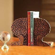 ExclusiveLane Tree of Life Book End in Sheesham Wood -Book Organizer Book Racks Shelf Table Top