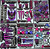 * 6 BLATT AUFKLEBER VINYL nSP/ MOTOCROSS STICKERS BMX BIKE PRE CUT STICKER BOMB PACK METAL ROCKSTAR ENERGY SCOOTER