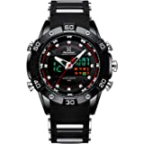 Youwen Watch Men's Sports Watch LED Display Digital and Quartz Analog Dual Movement Men's Watch Chronograph Military Watch Wa
