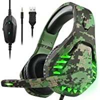 Gaming Headset für PS4 Xbox One PC Kopfhörer mit Mikrofon LED Licht Noise Cancelling Over…