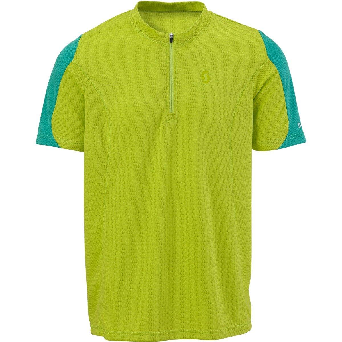 Scott Bicicletta da Strada con cerniera collo a maniche corte ciclismo 221581288100T Shirt, lime