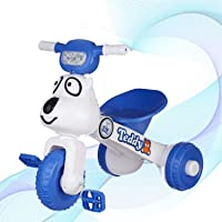Dash Teddy Foldable Tricycle for Boys and Girls with Music and Light (Blue, 1 to 3yrs)