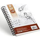 TBC The Best Crafts Bloc de Papier Dessin Croquis blanc 100 Feuilles 100g A5(5.5''X8.5'') pour Professionnel Artiste Édutiant