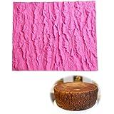 Tapis Texture en Silicone pour Gâteau Fondant avec Impression d'Écorce d'arbre Tapis de Gaufrage Fondant Gaufrage Cuisson Mou