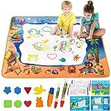 ALLCELE Grand Tapis Dessin Enfant, 39*28 Pouces Tapis Magique Dessin Eau Auqa Réutilisable Magic Doodle Pad Coloriage Tapis d