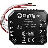 Zigtiger Interruptor regulador de intensidad empotrado, para Luces LED y Bombillas Regulables, con interruptor de atenuación